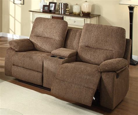 loveseat with two recliners homelegance marianna double reclining love seat with