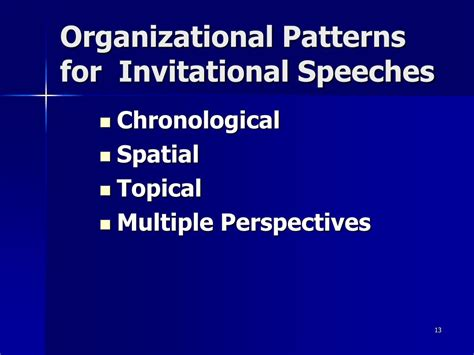 a topical pattern of speech organization has ppt invitational speaking powerpoint presentation id