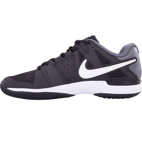 nike air vapor advantage junior tennis shoe black grey white