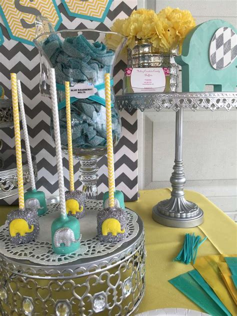 Chevron Themed Baby Shower by Chevron Elephant Baby Shower Baby Shower Ideas Themes