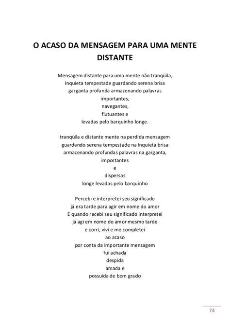 Para quem gostar de poesias...