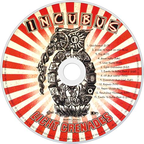 Incubus Light Grenades by Incubus Fanart Fanart Tv