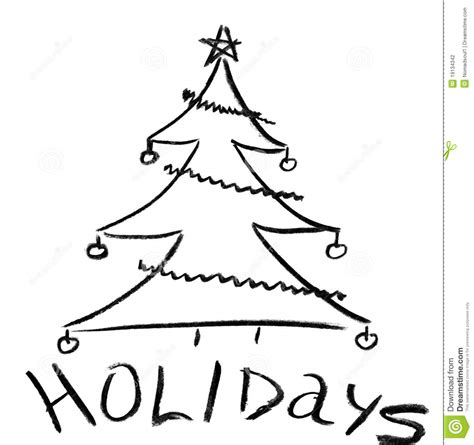 christmas tree drawing in pencil pencil sketch of tree stock illustration image 19134342