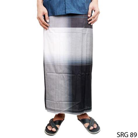 Sarung Sholat sarung sholat pria katun hitam putih srg 89 gudang fashion