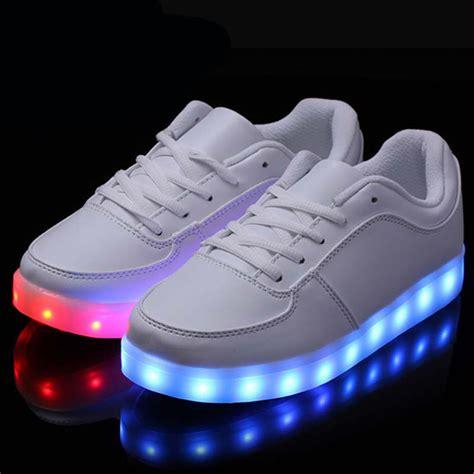 Led Shoes size 35 46 8 color led luminous shoes fashion casual yeezy light led shoes for adults