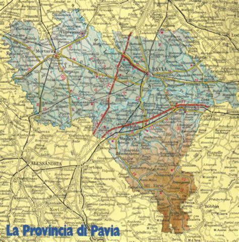 cartina geografica della provincia di pavia lombardia
