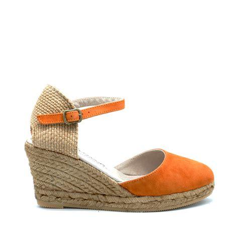 Best Seller Sepatu Wedges Wanita Suede 7cm Shoes 7cm Wedges gaimo obi orange