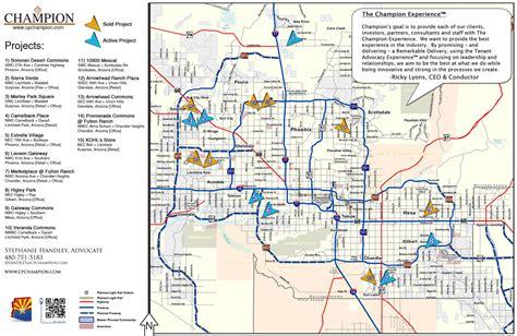 printable phoenix area map printable phoenix map