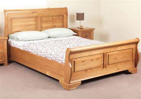 Wood Bed Frame And Headboard Sweet Dreams Jackdaw Oak Sleigh Bed Frame 135cm 4ft6 Solid Wood Ebay