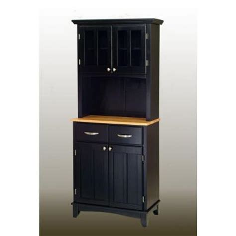 Home Depot Buffet Ls by Home Styles Two Drawer 31 25 In W Black Buffet With Wood