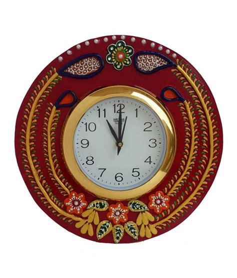 Handcrafted Clocks - divinecrafts multicolor handcrafted wall clock buy