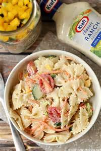 pasta salad dressing recipe easy summer pasta salad recipe with kraft dressing this is so delicious and you make it in a