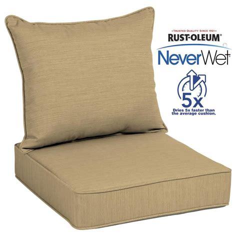 Shop allen   roth Texture Deep Seat Patio Chair Cushion