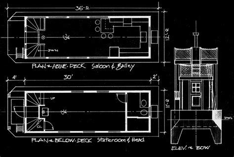 design blueprints 36 drifter houseboat for inland waterways