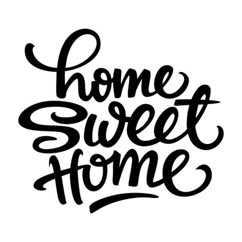 Word Signs Home Decor by Vinilo Decorativo Home Sweet Home