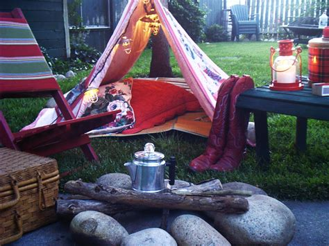 Camping In Your Backyard Ash Tree Cottage Cozy Amp Red Backyard Camping
