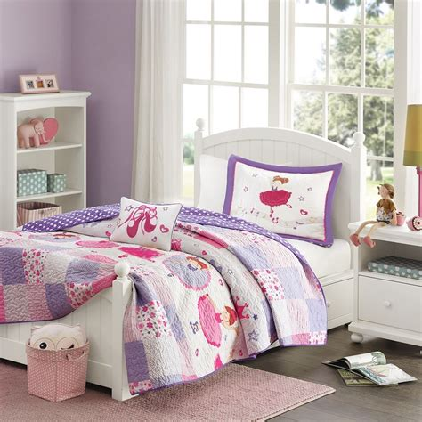 ballerina ballet princess girls twin quilt sham toss