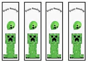 minecraft bookmarks birthday printable