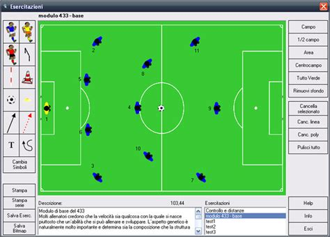 seduta di allenamento calcio gestione esercitazioni per allenamenti di calcio