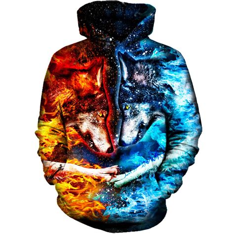 Fiore Shirt Wolfice wholesale hoodies custom design 3d print hoodies 2017 new design hoodies polluver