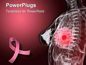 free breast cancer powerpoint presentation templates 3d rendered illustration of a anatomy with tumor in