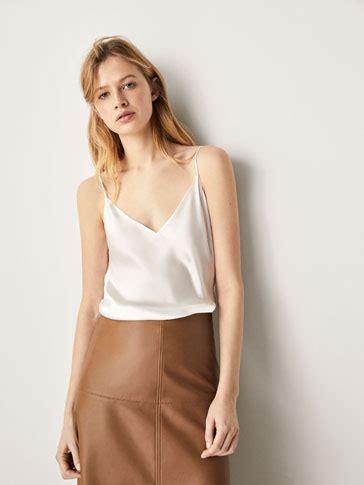 top seda camisas y blusas de mujer massimo dutti primavera verano
