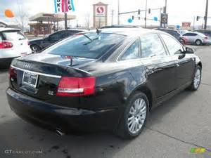 brilliant black 2008 audi a6 3 2 quattro sedan exterior