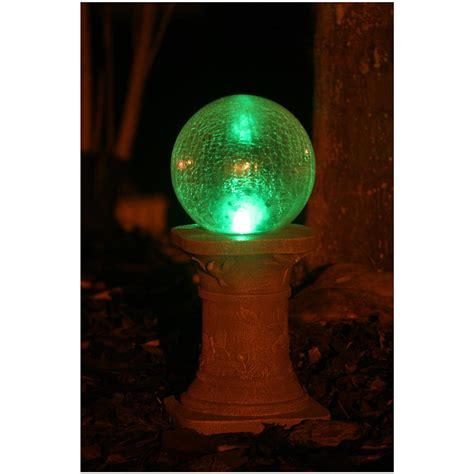 Smart Solar Crackled Glass Gazing Ball Light With Smart Solar Lights