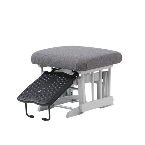 dutailier sleigh glider multiposition recline nursing ottoman combo dutailier multiposition glider and nursing ottoman in gray