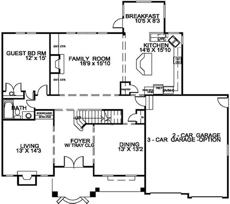 3200 Sq Ft House Plans Traditional Style House Plans 3200 Square Foot Home 2 Story 5 Bedroom And 4 Bath 2 Garage