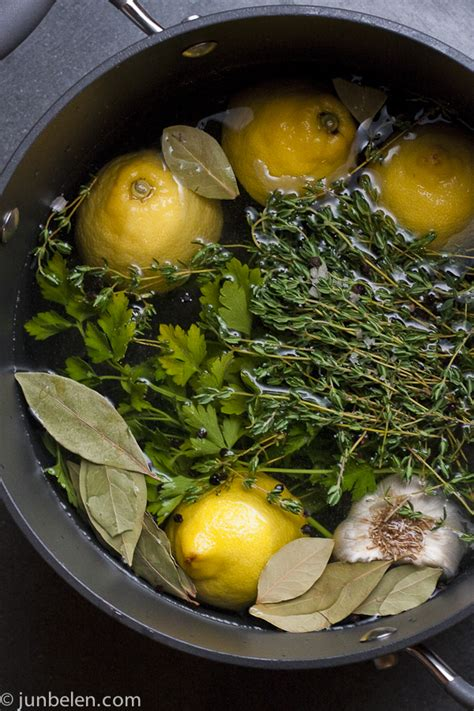lemon herb brine for 1 chicken whole or cut into pieces recipe dishmaps