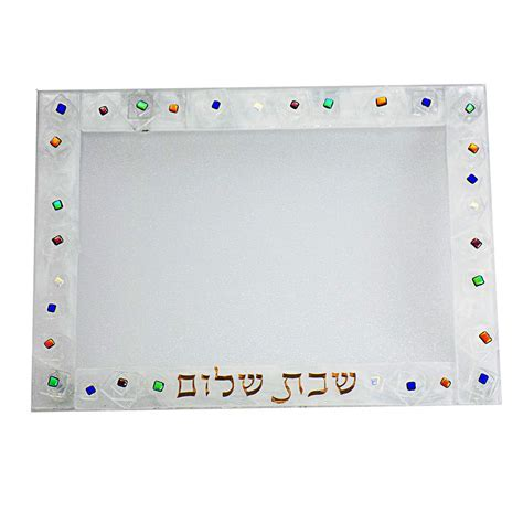 Geo Glass Challah Plate