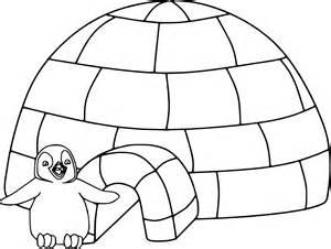 coloriage igloo dessin 224 imprimer sur coloriages info