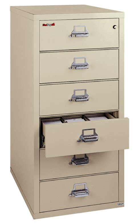 6 Drawer File Cabinet by Fireking 6 Drawer Card Check Note Filing Cabinet 6 2552 C