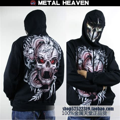 Jaket Zipper Hoddie Sweater Metal Hammer popular skull mask hoodie buy cheap skull mask hoodie lots