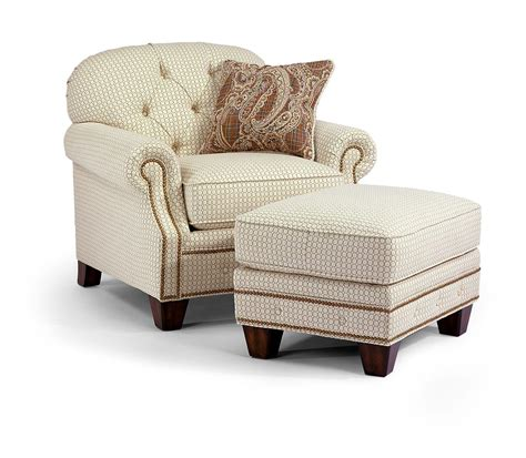 tufted chair with ottoman flexsteel chion transitinal button tufted chair with