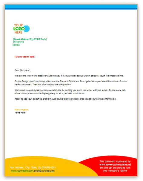 Business Letterhead Word Business Letter Template Using Letterhead Sle