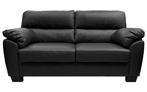 Sale Zara Large 3 Seater Black Leather Sofa Sofas Couch
