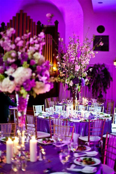 Wedding decor   purple / lilac / plum sashes, overlays