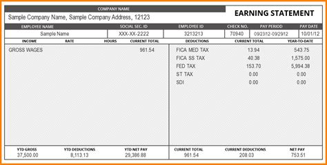create a pay stub template create pay stubs free