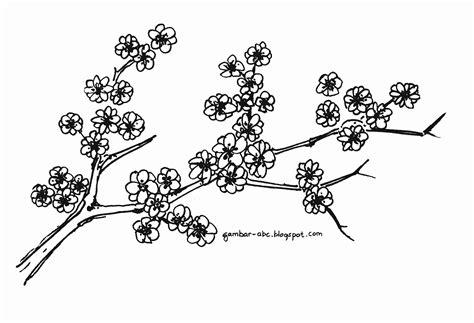 mewarnai bunga sakura contoh gambar mewarnai