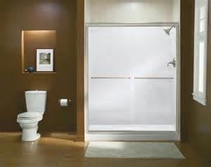 sterling tub shower doors sterling finesse frameless by pass shower door at menards 174