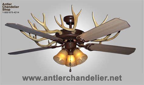 Deer Antler Ceiling Fans by Antler Ceiling Fans Antler Chandelier