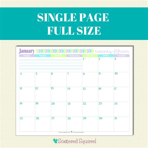 printable calendar 2015 one month per page 2015 calendar printables you asked i m answering