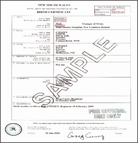 10 Editable Birth Certificate Template Sletemplatess Sletemplatess Birth Certificate Template For Microsoft Word