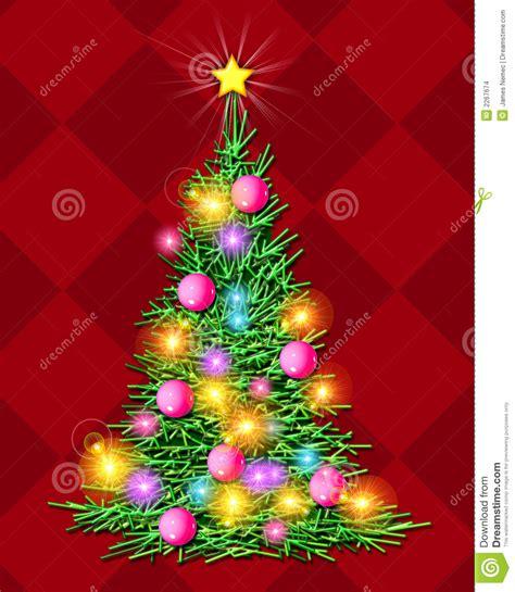 alberi di natale illuminati albero di natale illuminato illustrazione di stock