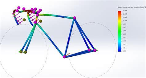 bike frame design loads bicycle frame design using solidworks simulation