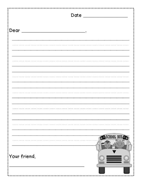 friendly letter template first grade writing pinterest