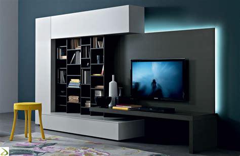 illuminazione soggiorno moderno parete soggiorno attrezzata librano arredo design