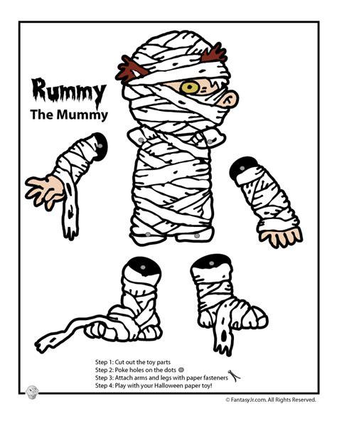 Printable Paper Halloween Crafts | halloween printable mummy paper craft woo jr kids